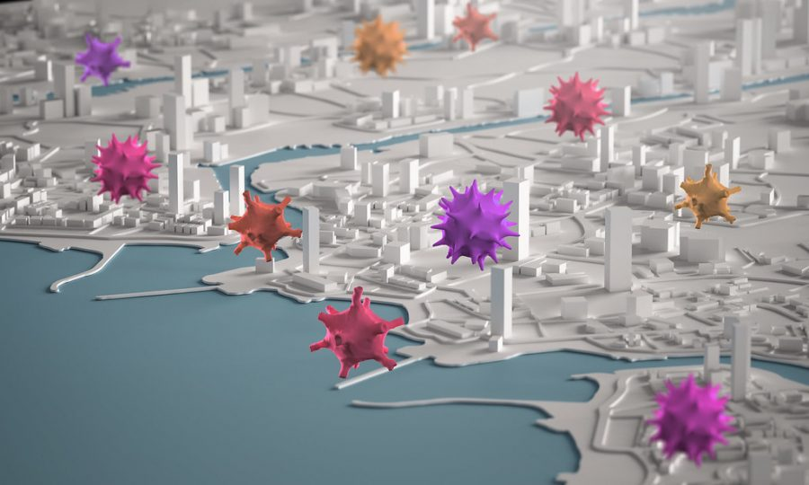%22Corona+Virus+Spreading+Across+City+Concept.+3D+Rendering+Aerial+View+Miniature+City+Buildings%22+by+maggie_talal+is+licensed+under+CC+BY-SA+2.0