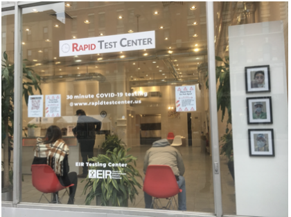 Rapid COVID testing site on the UWS
