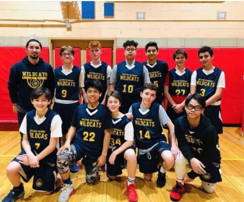 WESS's 2020 Middle School Varsity basketball team
