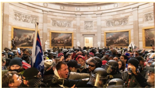 Domestic Terrorists and Law Enforcement Clash Inside the Capitol Building