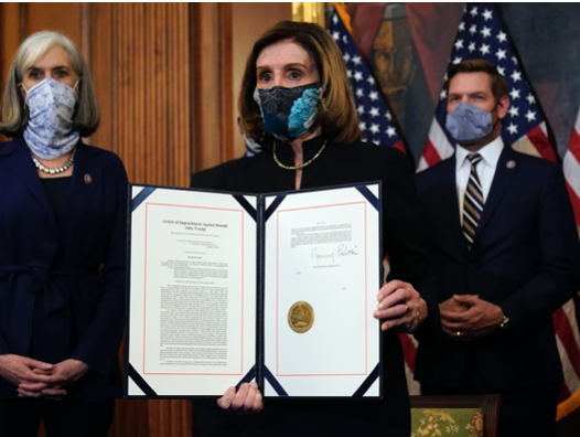 House Speaker Pelosi Historically Signs to Impeach Trump a Second Time