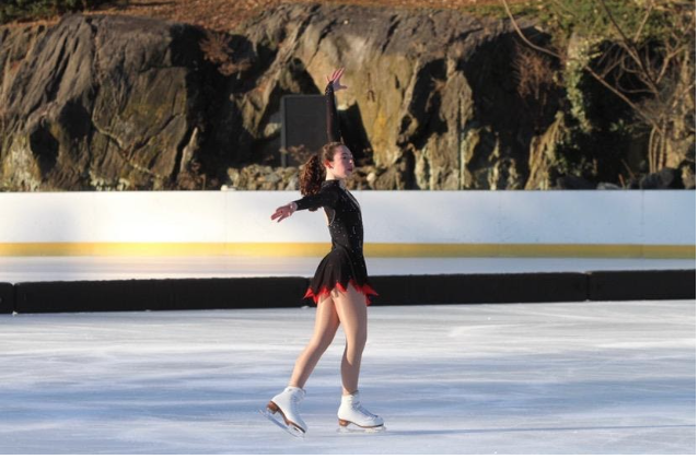 Jocelyn skates at Central Park's Wollman Rink over the winter and at Chelsea Piers over the spring and summer