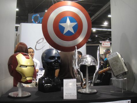 """""""WonderCon 2012 - Avengers prop replicas (Iron Man, Captain America, Thor)"""" by Doug Kline is licensed under CC BY-NC 2.0"""
