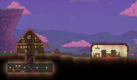 A simple town I built in my experience in a brand  New World in Terraria, the possibilities are truly endless.